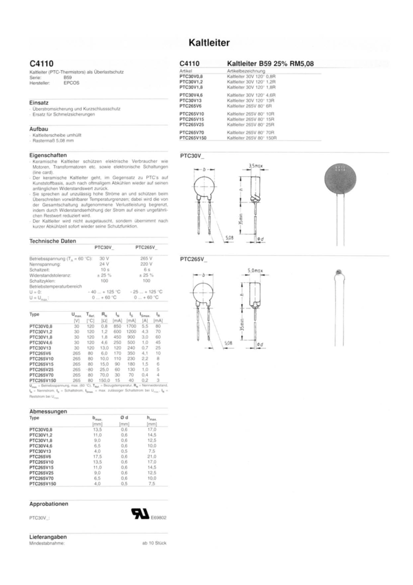 ptc265v6 datasheet pdf  u00bb nota katalogowa